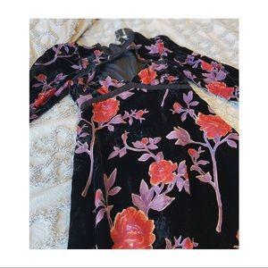 NWT Forever 21 Crushed Velvet Keyhole Dress.
